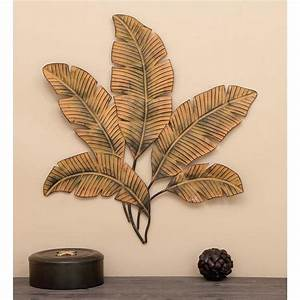 34 in x 35 in iron palm leaves wall decor 97920 the for Leaf wall decor