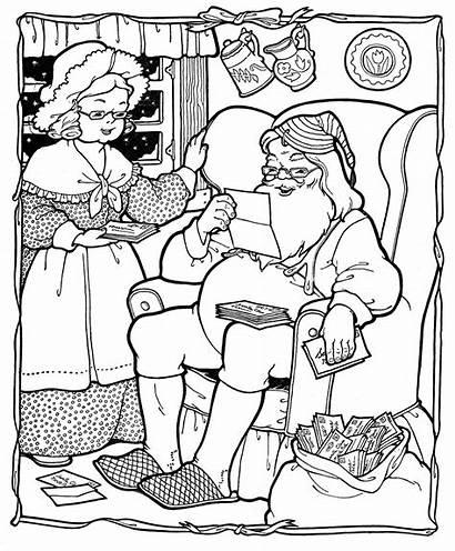 Printable Coloring Christmas Pages Santa Pdf Claus