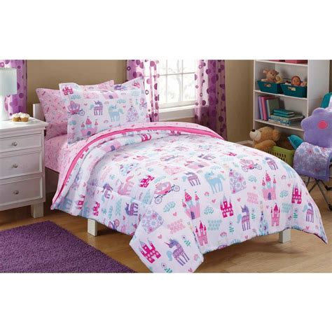 mainstays kids pretty princess bed   bag bedding set