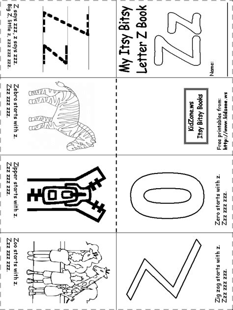 letter zz beginning letter sounds worksheet great