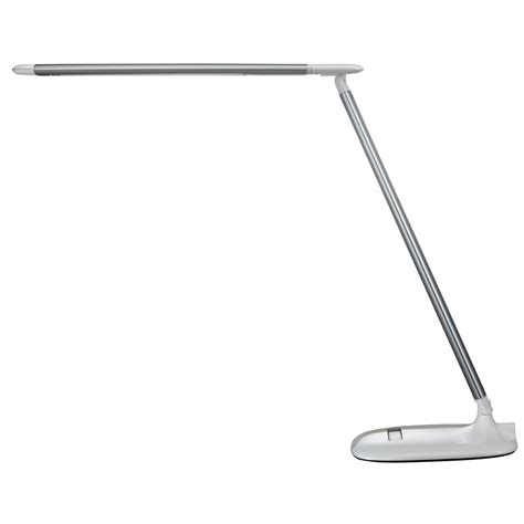 tensor 17 32 in silver and white led desk l with color