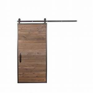 rustica hardware 42 in x 84 in mountain modern wood barn With barn door hinges home depot