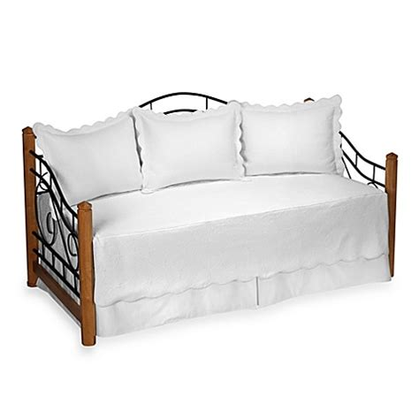 buy matelasse daybed bedding set in white from bed bath