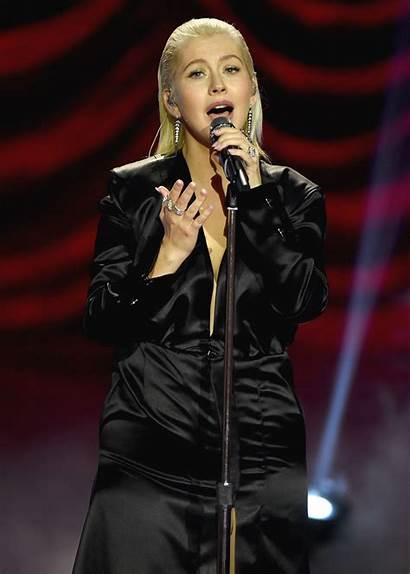 Christina Aguilera Awards American Performs Angeles Los