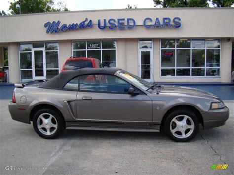 mineral grey metallic ford mustang  convertible