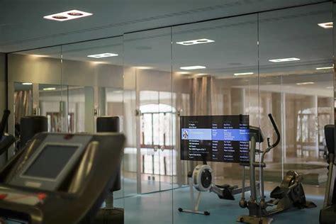 audio visual installation  gym  luxury home interior