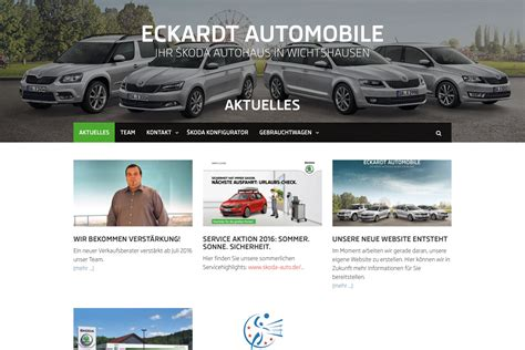 Automobile Website Design by Website Eckardt Automobile 2016 Designakut