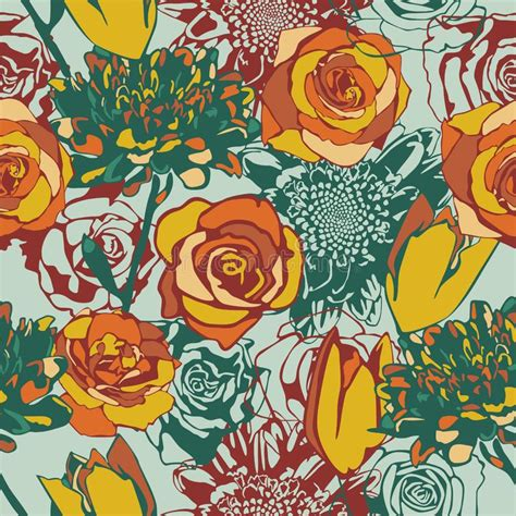 Floral seamless texture stock vector Illustration of
