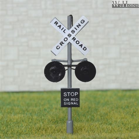 Scale Railroad Crossing Signals Led Flashing