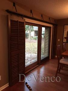 rolling shutters for glass sliding doors With barn door to cover sliding glass door