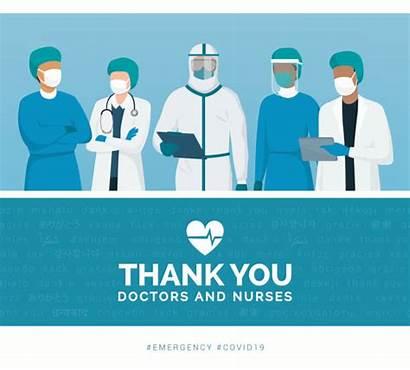Thank Doctors Nurses Doctor Vector Healthcare Coronavirus