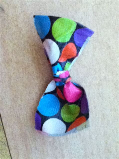 polka dot duct bow duct bows crafts throw