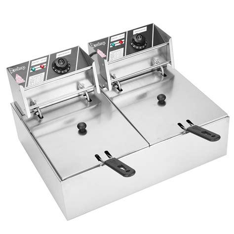 fryer deep commercial electric portable basket dual control tank temperature restaurant 5000w fry extra