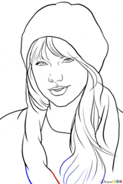 draw taylor swift famous singers