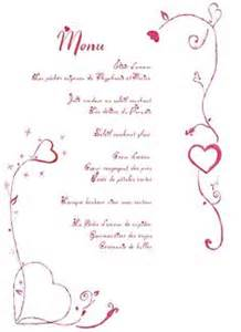 menu de mariage original mariage on