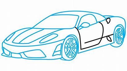 Sports Drawing Step Ferrari Draw Cars Easy