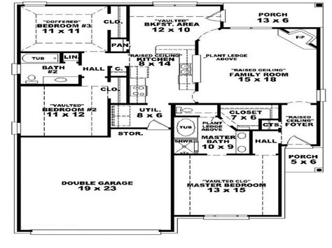 3 bedroom one story house plans 3 bedroom townhouse for