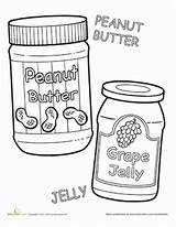 Peanut Jelly Butter Worksheets Sandwich Worksheet Coloring Lesson Preschool Plan Learning Sequencing Cartoon Grape Word Printables Words Education Sentences Supporting sketch template