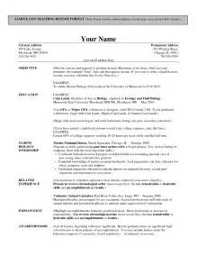 Free Sles Of Resume For Teachers by Resume Sales Lewesmr