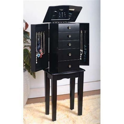 Black Standing Mirror Jewelry Armoire by Black Jewelry Armoire Ebay