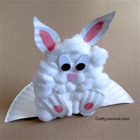 preschool easter bunny crafts 838 | paper plate pop up bunny 017w