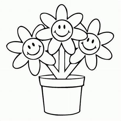 Pot Flower Template Printable Templates
