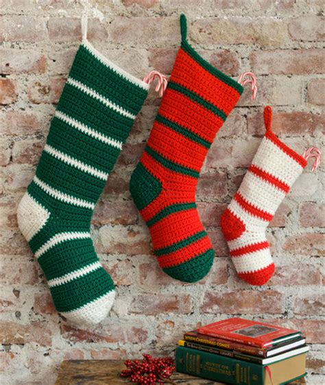 simple striped santa stockings favecraftscom