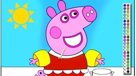 peppa pig juego  colorear  de pintar peppa pig