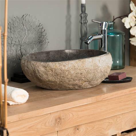 vasque 224 poser en naturelle vasque naturelle ronde 40 cm