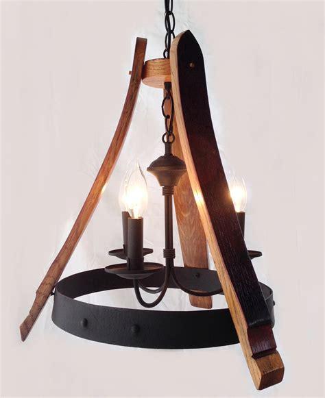 wine barrel light sancho mini wine barrel chandelier recycled oak staves and