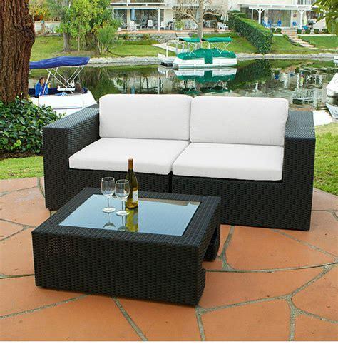 canapé en résine tressée salon canape fauteuil pot mobilier meubles de