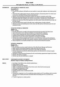 Internal Medicine Resume Samples