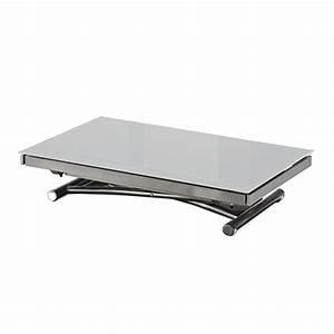 Table Extensible Grise : tables relevables tables et chaises table basse jump extensible relevable grise inside75 ~ Teatrodelosmanantiales.com Idées de Décoration