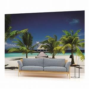 Tropical Sea Sand Beach Art PHOTO WALLPAPER WALL MURAL ...