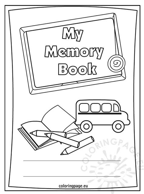End of the school year – My memory book – Coloring Page
