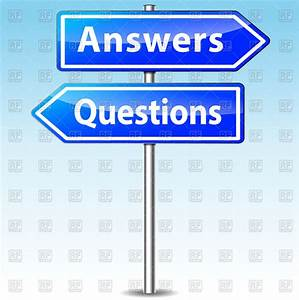 Traffic Sign With Words Answers And Questions Vector Image Of Signs  Symbols  Maps