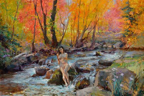 crystal clear creek painting  eric kent wallis