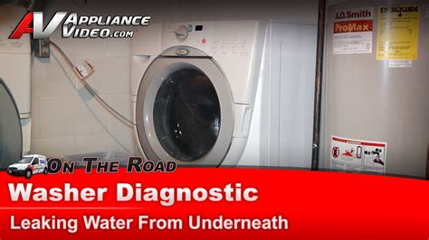 Whirlpool Maker Leaking Water On Floor by Whirlpool Washer Diagnostic Leaking Water From