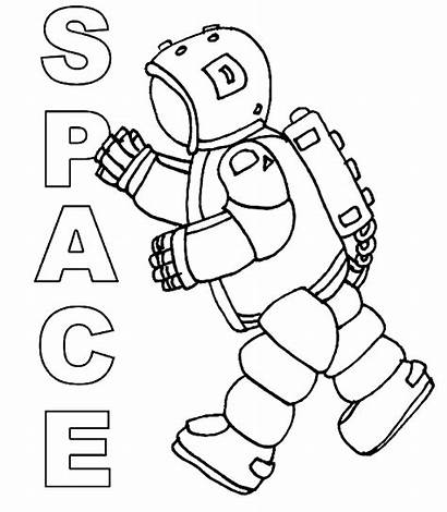 Coloring Space Pages Astronaut Suit Colouring Printable
