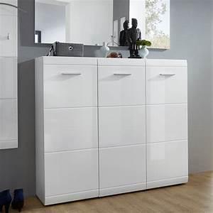 Placard à Chaussures : grand meuble a chaussures blanc design 36 paires alama ~ Teatrodelosmanantiales.com Idées de Décoration