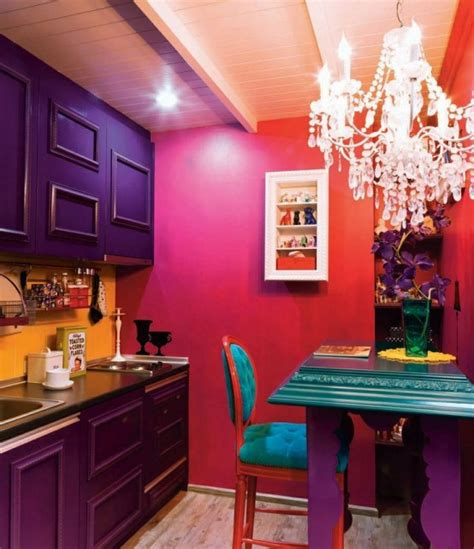 inspiring bold color ideas  small kitchens