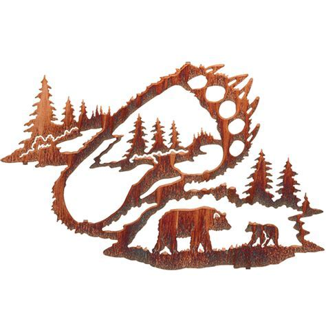 Reflections of the Wilderness   Bear Tracks Wall Hanging