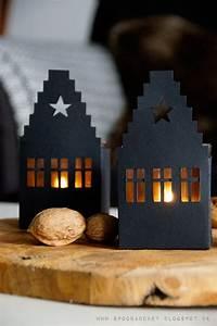Weihnachtsmann Basteln Aus Pappe : diy haus windlicht handmade kultur ~ Haus.voiturepedia.club Haus und Dekorationen