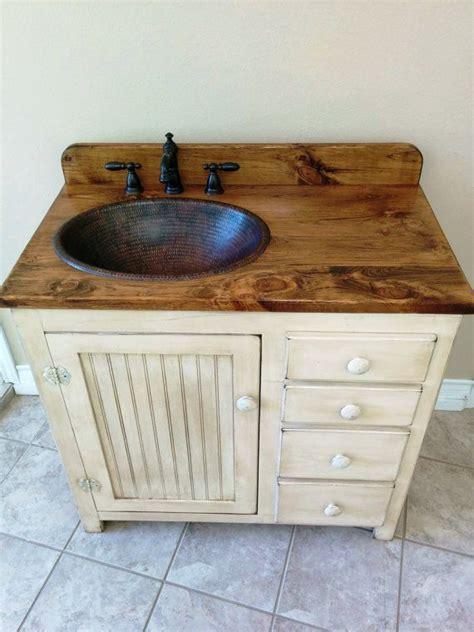 how to restore a copper sink bathroom vanity 36 quot copper sink rustic bathroom