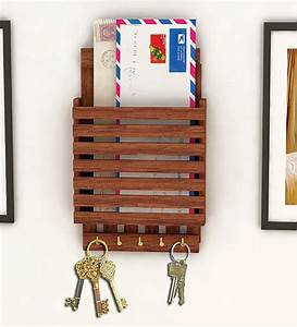 Wooden letter rack cum key holder by home sparkle online for Wooden letter and key holder