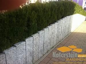Granit Palisaden Bristol Hellgrau Naturstein Direkt Mannheim