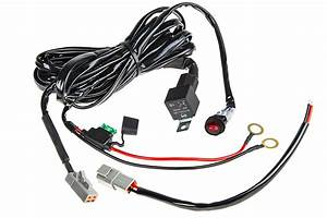 led light wiring harness with weatherproof switch and With led light wiring harness with relay and weatherproof switch dual