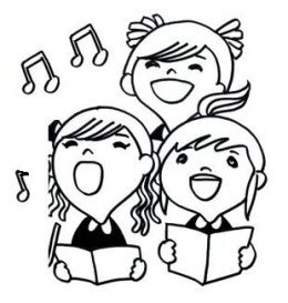 children singing clipart black and white peace proms 2016 st conleth and marys primary school