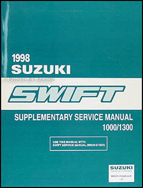 free online auto service manuals 1998 suzuki swift auto manual 1998 suzuki swift 1000 1300 repair shop manual original supplement