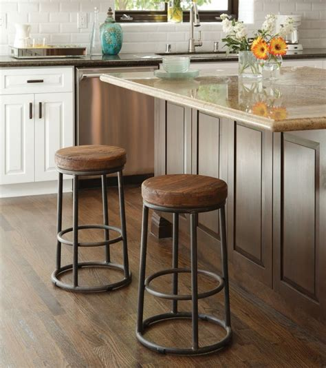 Industrial Rustic Counter Stool  Zin Home  I'm Home